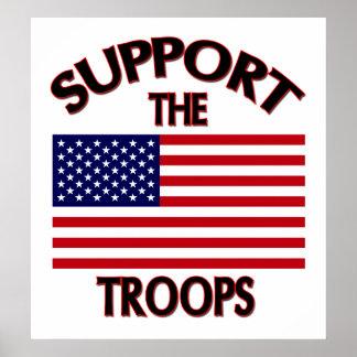 Apoye a las tropas poster