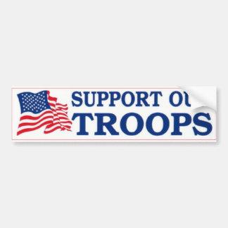 Apoye a las tropas pegatina para auto
