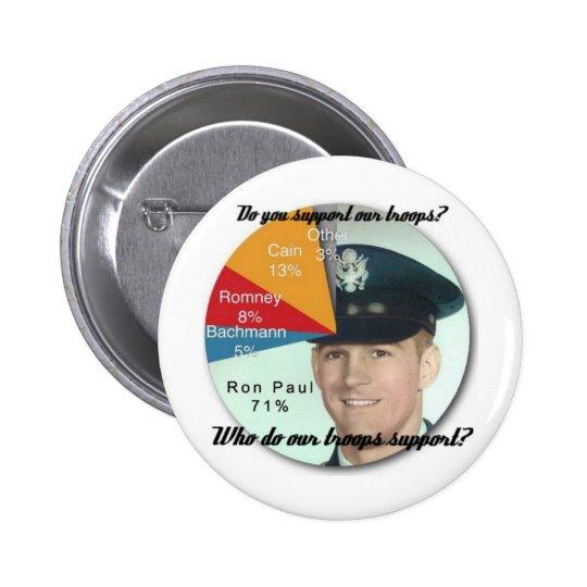 ¡Apoye a las tropas! Pin Redondo De 2 Pulgadas