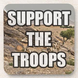Apoye a las tropas posavasos de bebidas