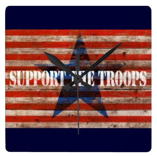 apoye a las tropas relojes de pared