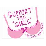 Apoye a los chicas postal