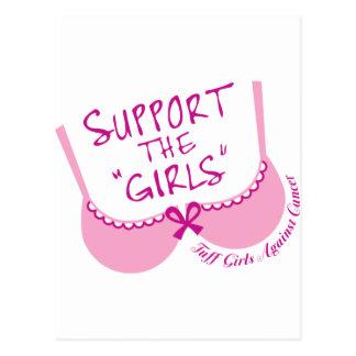 Apoye a los chicas tarjetas postales