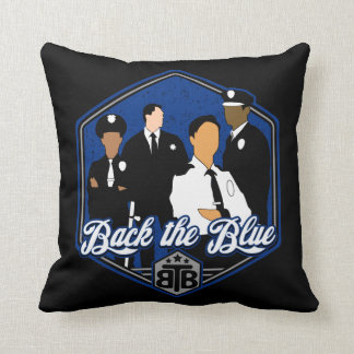 Apoye a los oficiales de policía azules de la cojín