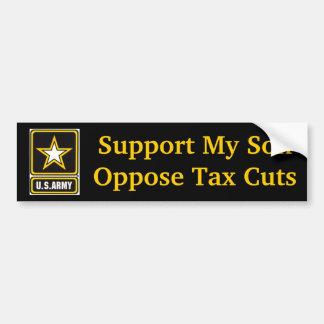 Apoye a mi hijo del ejército pegatina de parachoque