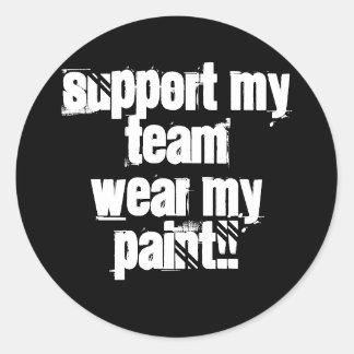 Apoye a mi pegatina de Paintball del equipo