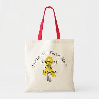 Apoye a nuestra mamá de la fuerza aérea de las tro bolsas