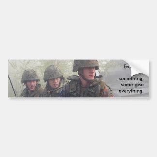 Apoye a nuestra pegatina para el parachoques de la etiqueta de parachoque