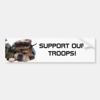 Apoye a nuestra pegatina para el parachoques milit etiqueta de parachoque
