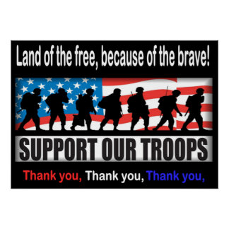 "Apoye a nuestras tropas 24,00"" X 33,60"" o menos po Posters"