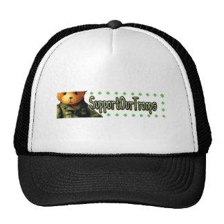 Apoye a nuestras tropas 2 gorras de camionero