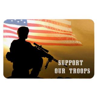"""Apoye a nuestras tropas. 4"""""""" imán del regalo x6"""