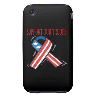 Apoye a nuestras tropas carcasa though para iPhone 3