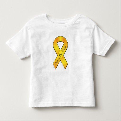 Apoye a nuestras tropas - cinta amarilla playera de bebé