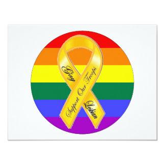 """¡Apoye a nuestras tropas del homosexual y Invitación 4.25"""" X 5.5"""""""