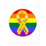 ¡Apoye a nuestras tropas del homosexual y lesbiana Tarjeta Postal