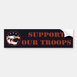 Apoye a nuestras tropas (Eagle) Pegatina De Parachoque