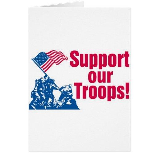 Apoye a nuestras tropas felicitación