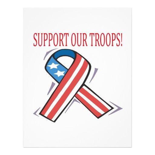 Apoye a nuestras tropas flyer a todo color