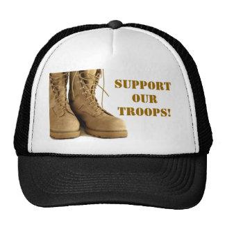 ¡apoye a nuestras tropas! gorra
