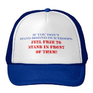 Apoye a nuestras tropas gorras