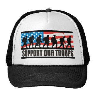 Apoye a nuestras tropas gorros