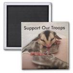 Apoye a nuestras tropas imán de frigorífico