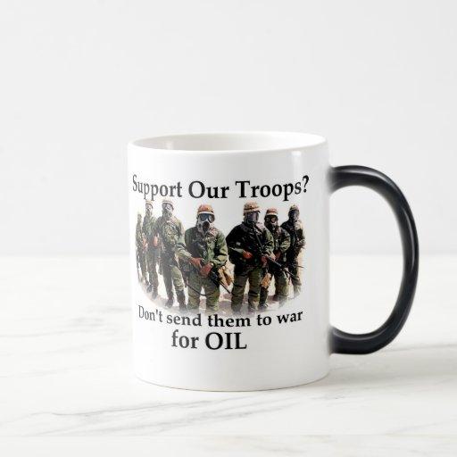 Apoye a nuestras tropas las traen caseras taza mágica