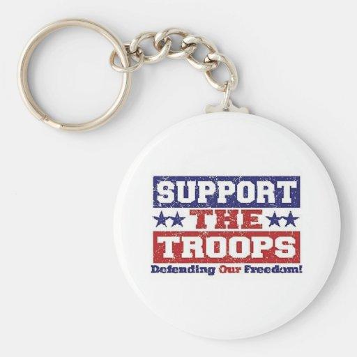 Apoye a nuestras tropas llaveros personalizados