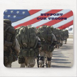 Apoye a nuestras tropas. Militares Mousepad del re Alfombrillas De Ratón