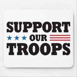 Apoye a nuestras tropas - negro alfombrilla de ratón