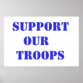 Apoye a nuestras tropas poster