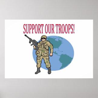 Apoye a nuestras tropas posters