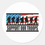 Apoye a nuestras tropas pegatina