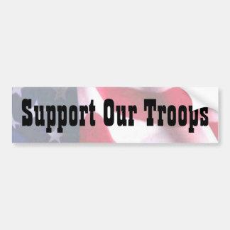 Apoye a nuestras tropas pegatina para auto