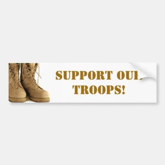 ¡Apoye a nuestras tropas! pegatina para el paracho Pegatina Para Auto