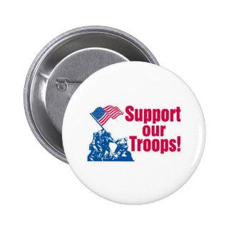 Apoye a nuestras tropas pin