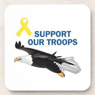 Apoye a nuestras tropas posavasos de bebida