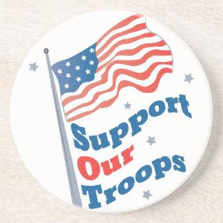 Apoye a nuestras tropas posavasos personalizados
