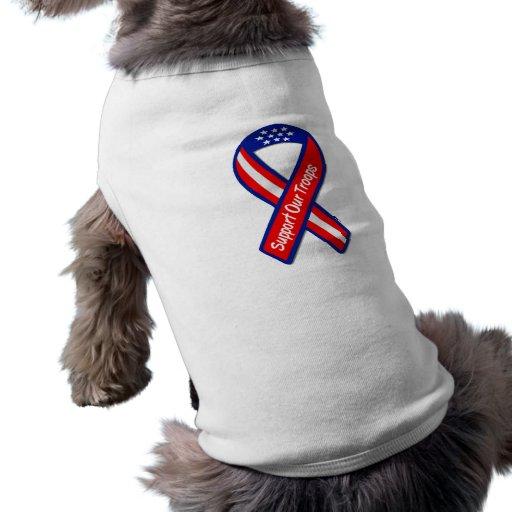 Apoye a nuestras tropas ropa de perros