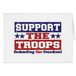 Apoye a nuestras tropas tarjeta