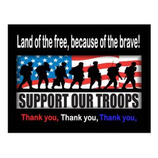 Apoye a nuestras tropas tarjeta postal