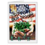 Apoye a nuestras tropas tarjetón