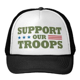 Apoye a nuestras tropas - verde gorras de camionero