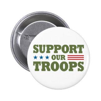 Apoye a nuestras tropas - verde pins