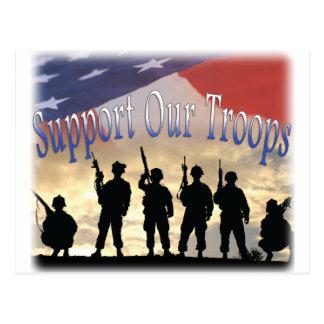 Apoye a nuestros soldados de las tropas postales