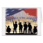 Apoye a nuestros soldados de las tropas tarjeton