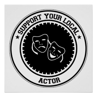 Apoye a su actor local impresiones