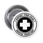 Apoye a su auxiliar médico local pins