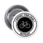 Apoye a su Bicyclist local Pins